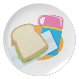 time for lunch party plate