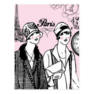 Time for Paris Postcard