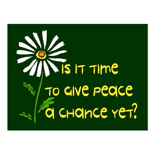 Time For Peace Postcards