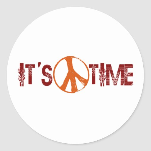 Time For Peace Round Sticker