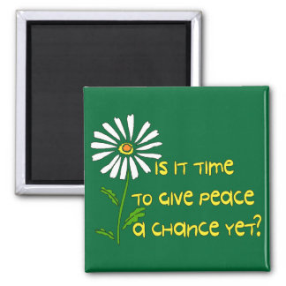 Time For Peace Square Magnet