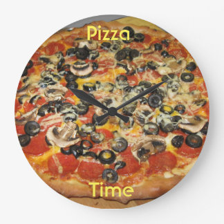 Time for Pizza Large Clock