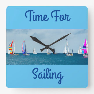 Time For Sailing Wall Clocks