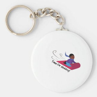 Time For Sledding Keychains