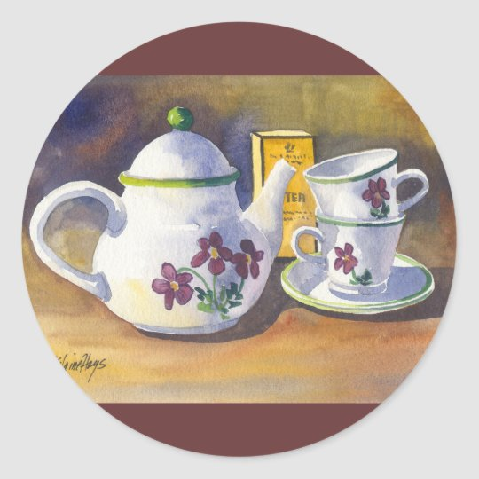 Time for Tea Classic Round Sticker