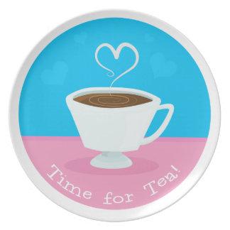 Time for Tea heart teacup Plate