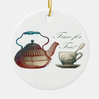Time for Tea Round Ceramic Decoration