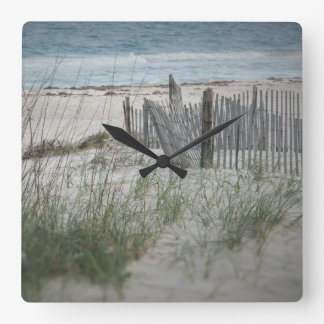 Time for the Beach Square Wall Clock