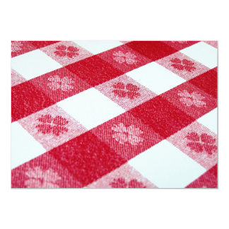 Time for the Red-Checked Tablecloth! 13 Cm X 18 Cm Invitation Card