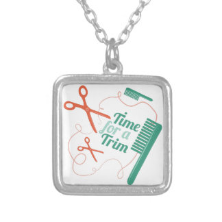 Time For Trim Square Pendant Necklace