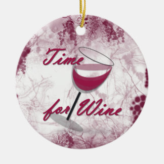 Time For Wine Christmas Ornament
