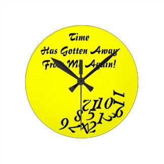 Time Getting Away Clock