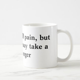Time heals all pain, basic white mug