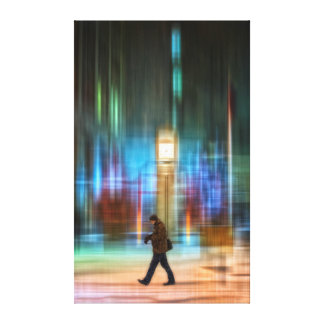 Time in a big city canvas print