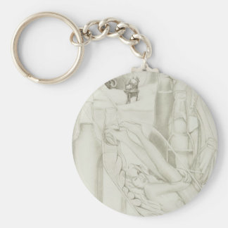 Time in a Bottle Basic Round Button Key Ring