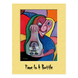 TiMe In A bOtTle Colorful Postcard