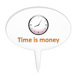 Time is money cake toppers