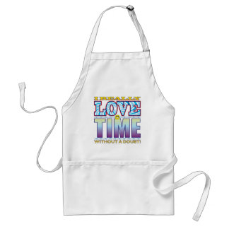 Time Love Face Standard Apron