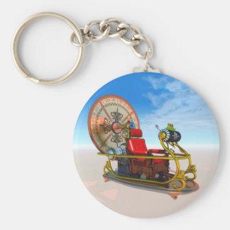 Time Machine Basic Round Button Key Ring