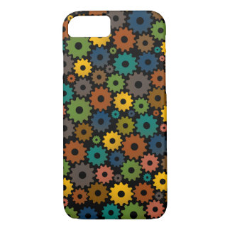 Time Machine Pattern in Colours with backfround iPhone 8/7 Case