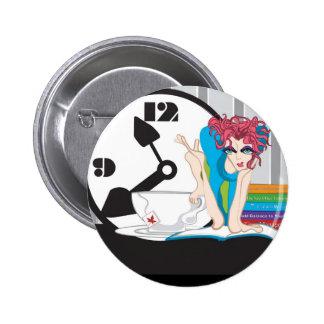 time management 6 cm round badge