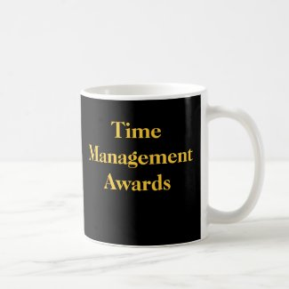 Time Management Awards Funny Spoof Office Prize