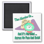 Time Marches On 50th Birthday Gifts Fridge Magnet