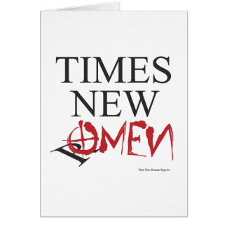 Time new omen - Happy Halloween Greeting Card