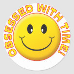 Time, Obsessed Smile Sticker