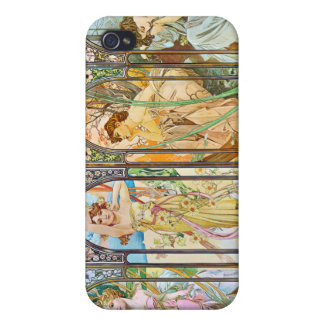Time of the Day, Alphonse Mucha Cover For iPhone 4