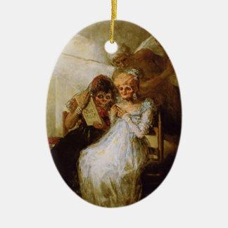 Time of the Old Women Francisco José de Goya Ceramic Oval Decoration