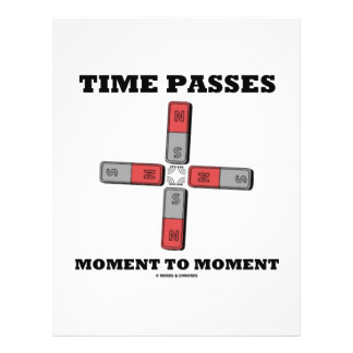 Time Passes Moment To Moment (Magnetic Quadrupole) 21.5 Cm X 28 Cm Flyer