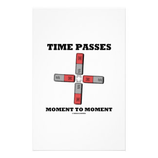 Time Passes Moment To Moment (Magnetic Quadrupole) Personalised Stationery