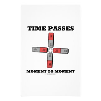 Time Passes Moment To Moment (Magnetic Quadrupole) Customized Stationery