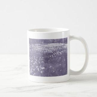 """Time Passes"" Purple Dandelion Clock Ephesians 5 Coffee Mug"