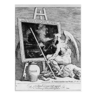 Time smoking a Picture, 1761 Postcard