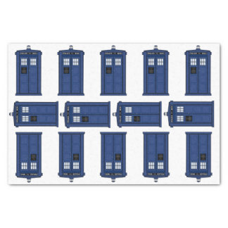 Time & Space, Vintage Blue Police Box Gift geek Tissue Paper