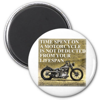 Time Spent On A Motorcycle 6 Cm Round Magnet