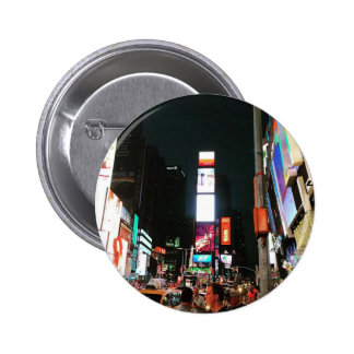 Time Square, NYC 6 Cm Round Badge