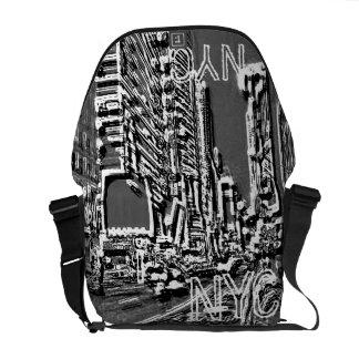 Time Square NYC Gray Messenger Bag