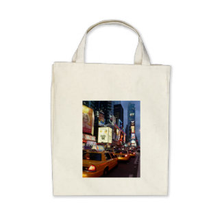 Time Square Taxis Tote Bag