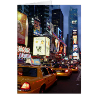Time Square Taxis Card