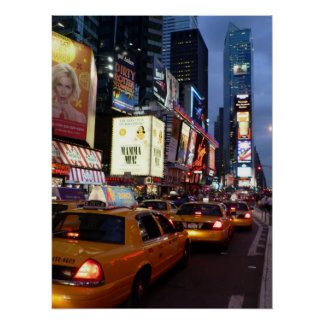 Time Square Taxis Posters