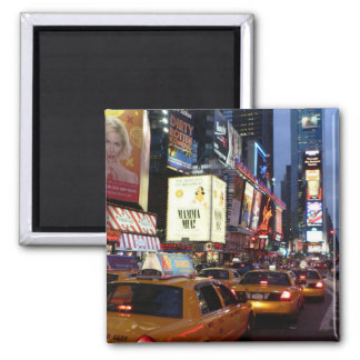 Time Square Taxis Square Magnet