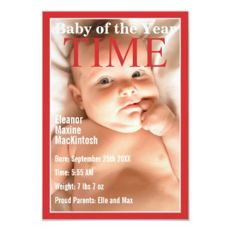TIME STYLE COVER | BABY ANNOUNCEMENT