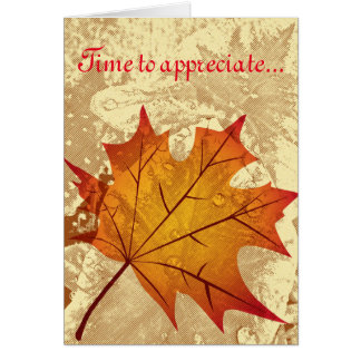 Time To Appreciate - Thanksgiving greeting card