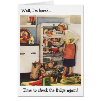 Time to Check the Fridge!, Card