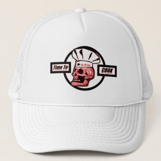 Time to Cook - Red/Black/White Trucker Hat