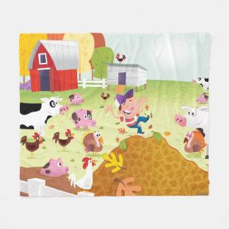 Time to Count - Farmyard Fleece Blanket