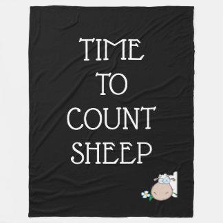 Time To Count Sheep Fleece Blanket